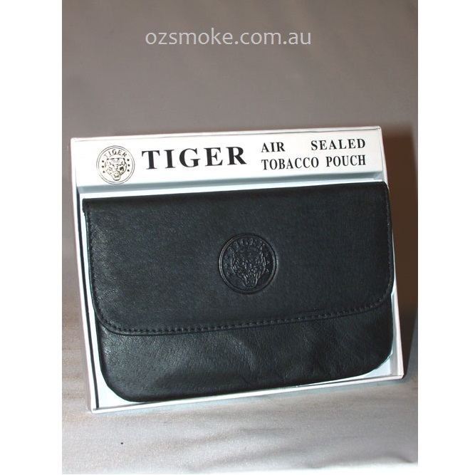 e7a3fceee2 Tiger Tobacco Leather Pouch Black